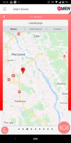 Aplikacja Aktywnego Systemu Nadzoru - lokalizacja osiedli