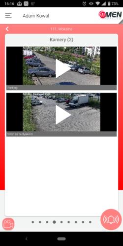 Aplikacja Aktywnego Systemu Nadzoru - możliwość podglądu przekazów z kamer